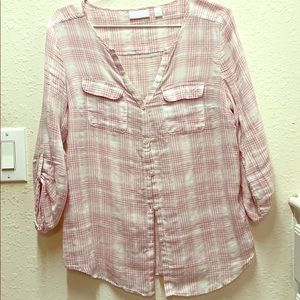Flowy pink button up